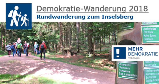 Bild zur Veranstaltung Demokratie-Wanderung 2018